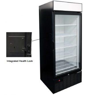 Freezer Merchandiser with Integrated Health Lock Timer