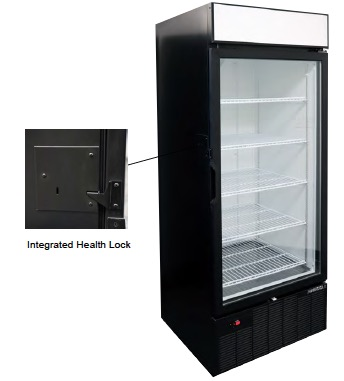 Freezer Merchandiser with Integrated Health Lock Timer