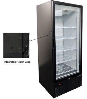 Tall Door Freezer Merchandiser with Integrated Health Lock Timer
